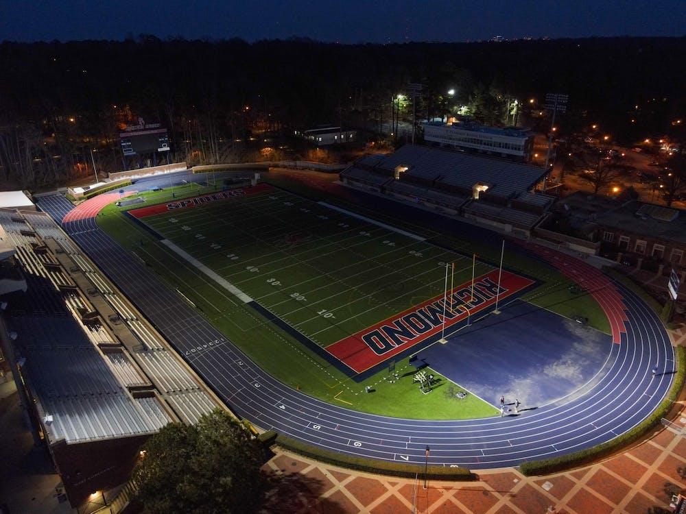<p>A darkened Robins stadium awaits in next use.</p>