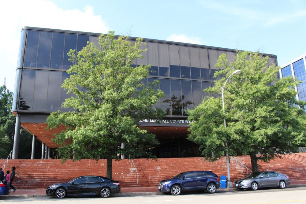 <p>The Richmond-John Marshall criminal/traffic general district court in Richmond, Virginia.&nbsp;</p>