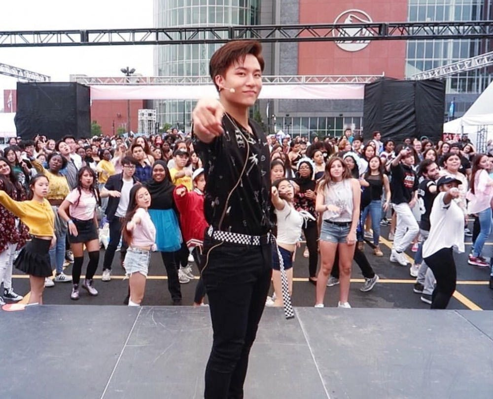"<p>Alumnus Brian Li at <a href=""https://www.instagram.com/p/Bkh3iKcBVHT/"" target=""_blank"">KCON18NY</a>. <em>Photo courtesy of Brian Li.&nbsp;</em></p>"