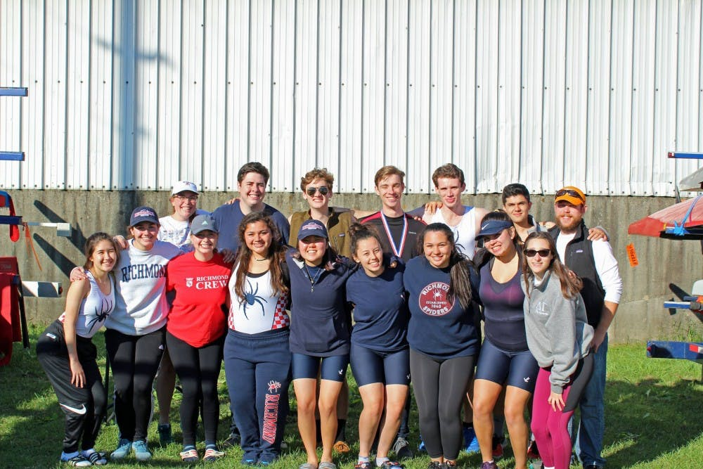 <p>The University of Richmond crew team. <em>Photo courtesy of University Richmond of Richmond Crew Facebook page.</em></p>