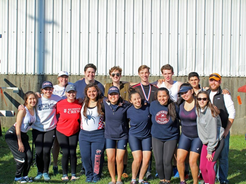 The University of Richmond crew team. Photo courtesy of University Richmond of Richmond Crew Facebook page.