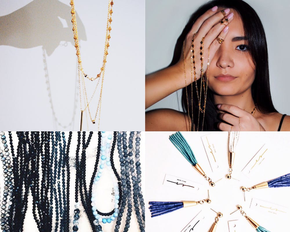 <p>Some of Emily Song's jewelry pieces. <em>Photos courtesy of Emily Song</em></p>