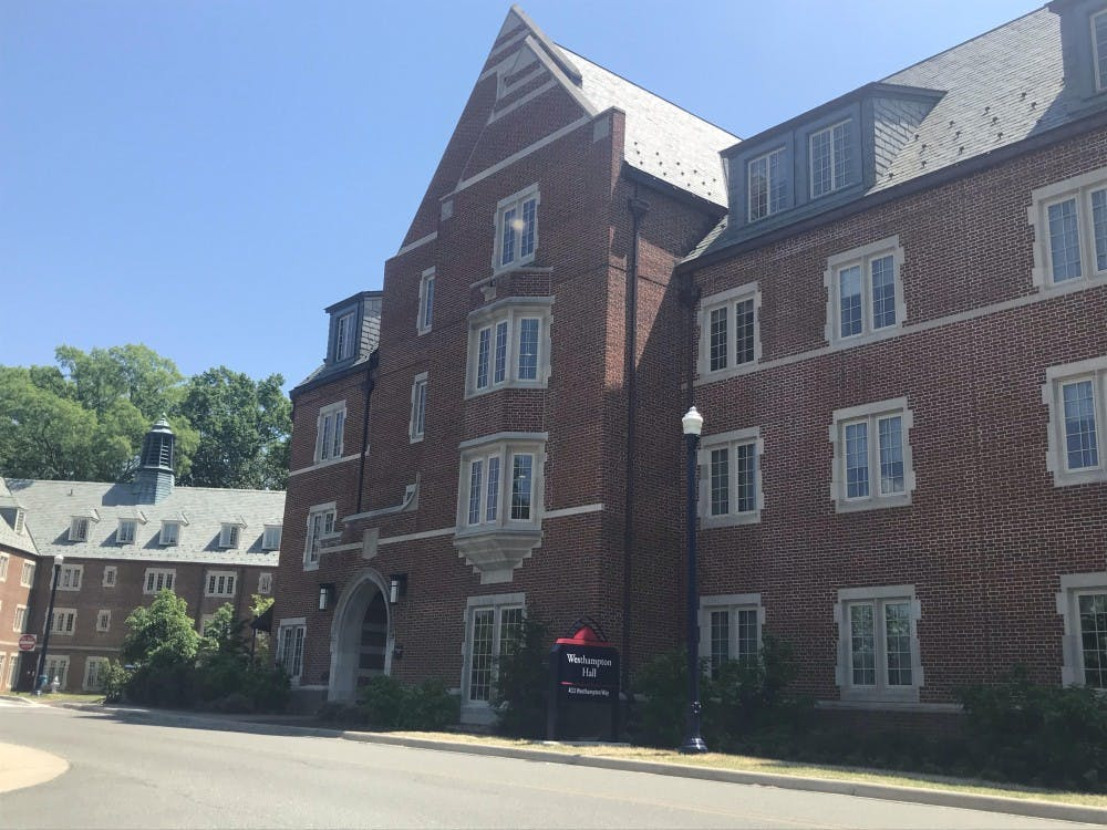 Westhampton Hall is one of the dormitories on campus that has a College Fellow In-Residence.