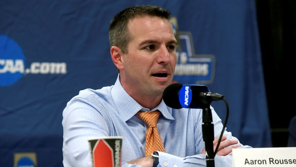 <p>Aaron Roussell will serve as the new University of Richmond head women's basketball coach. <em>Photo courtesy of Richmond Athletics&nbsp;</em></p>