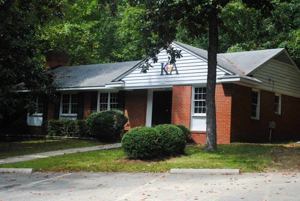 <p>University of Richmond's Kappa Alpha Order lodge sits on fraternity row.&nbsp;</p>