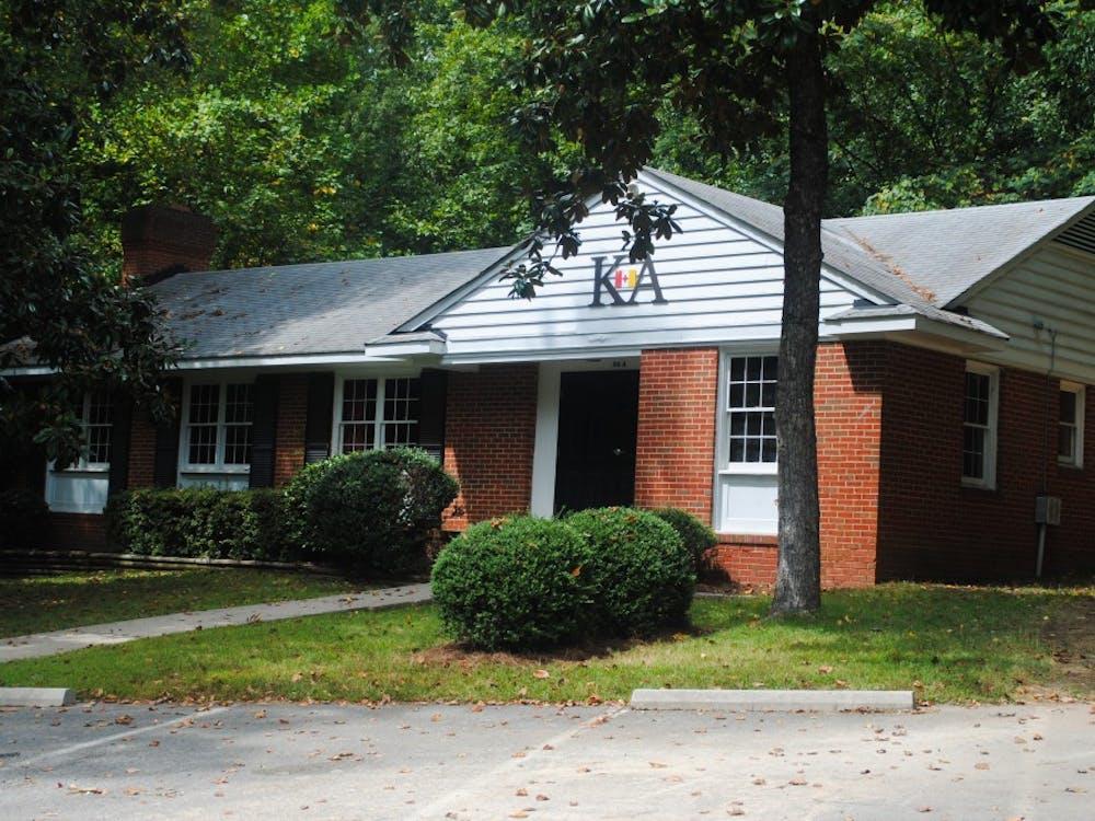 University of Richmond's Kappa Alpha Order lodge sits on fraternity row.