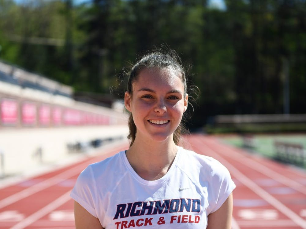 Caroline Robelen, a sophomore on the women's track and field and women's cross country teams.