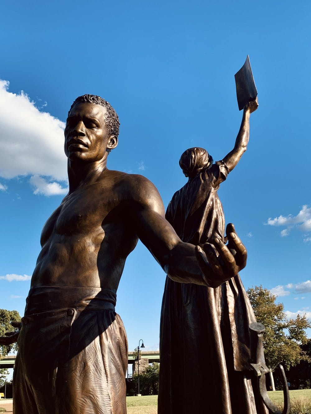 <p>The Emancipation and Freedom Monument</p>
