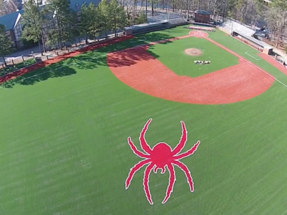 After multiple delays and some frustration, University of Richmond completed its renovation of Pitt Field, home to Richmond's baseball team, last week. The Spiders, who faced an erratic and constantly changing schedule due to the renovations, celebrated the much-anticipated home opener with a massive win against Cornell on Tuesday. The Collegian borrowed a drone -- yes, a drone -- to capture shots of the new Pitt Field, whose playing surface is now synthetic turf rather than grass. Stay tuned for future arial footage of Pitt Field.