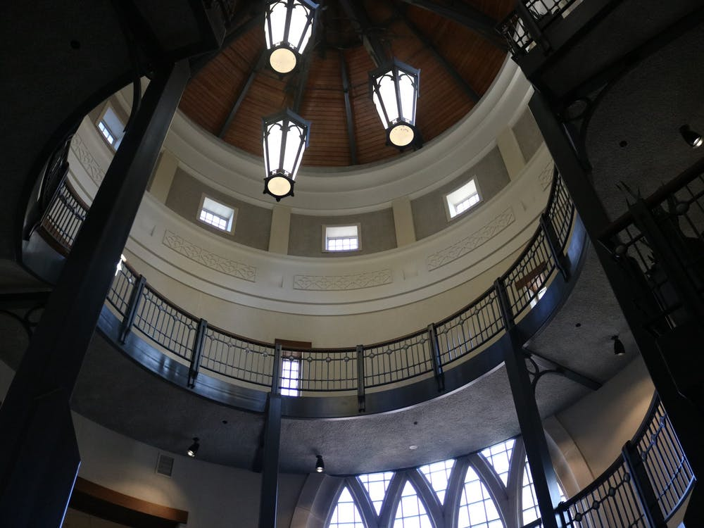 The rotunda in the Robin's School of Business