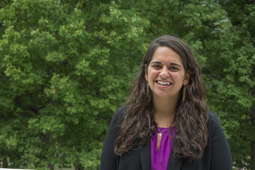 <p>Dr. Rachel Turk poses for a portrait. Turk is UR's first-ever sports psychologist.&nbsp;</p>