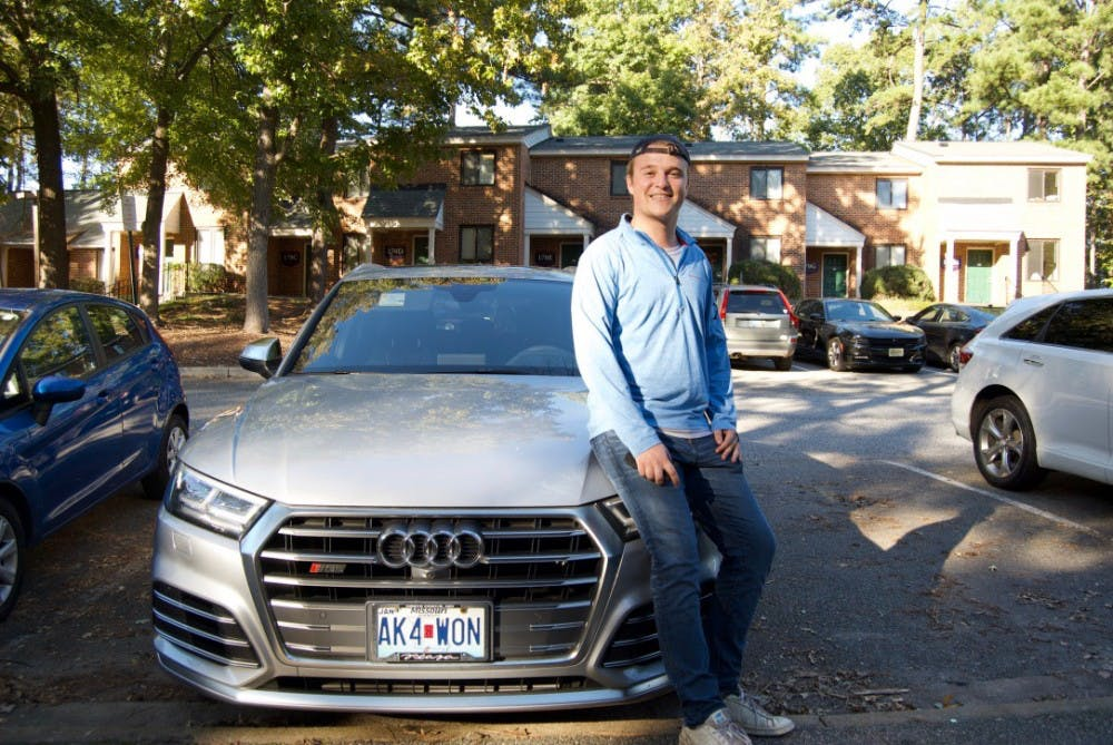 <p>&nbsp;Senior Kyle Crowley drives for Uber Eats.&nbsp;</p>