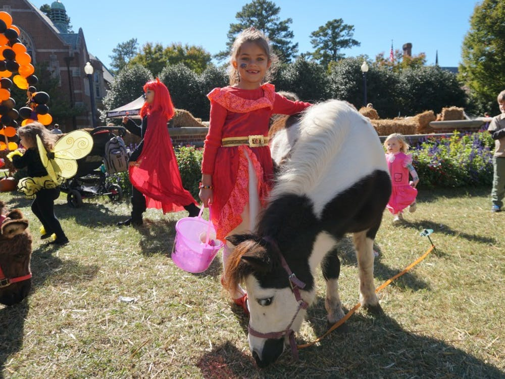 The petting zoo was a popular attraction at TOTS.