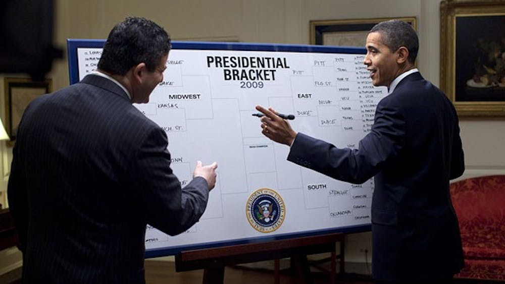 <p>In the cruel world of bracket-making, the bigger they are, the harder they fall. Source: The White House</p>