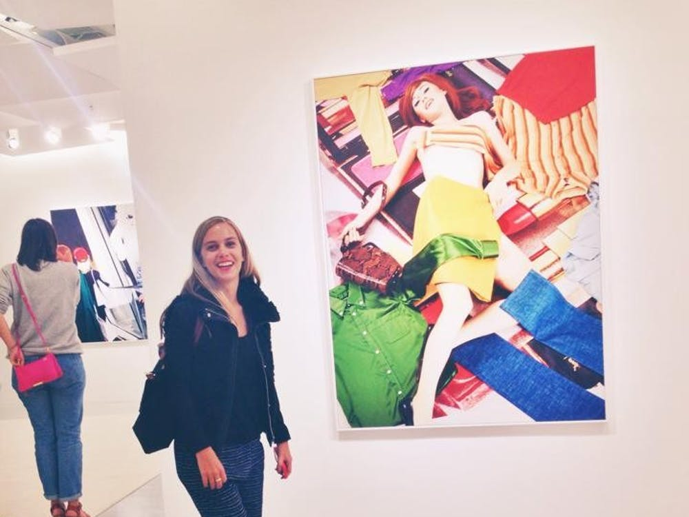 LyndsayPatterson, Hintd ambassador, enjoying her time at a museum.