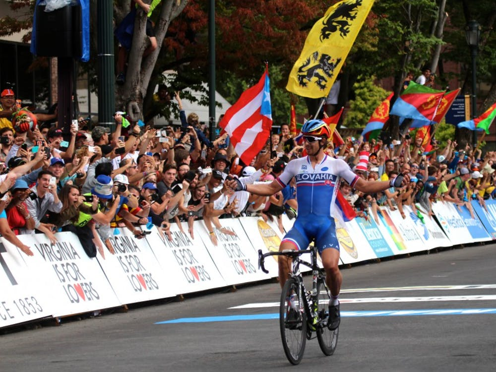 The final race of the UCI 2015 World Road Championships took place today. The race began on the University of Richmond campus and continued through downtown Richmond. Peter Sagan of Slovakia took home gold. Photos by Rayna Mohrmann.