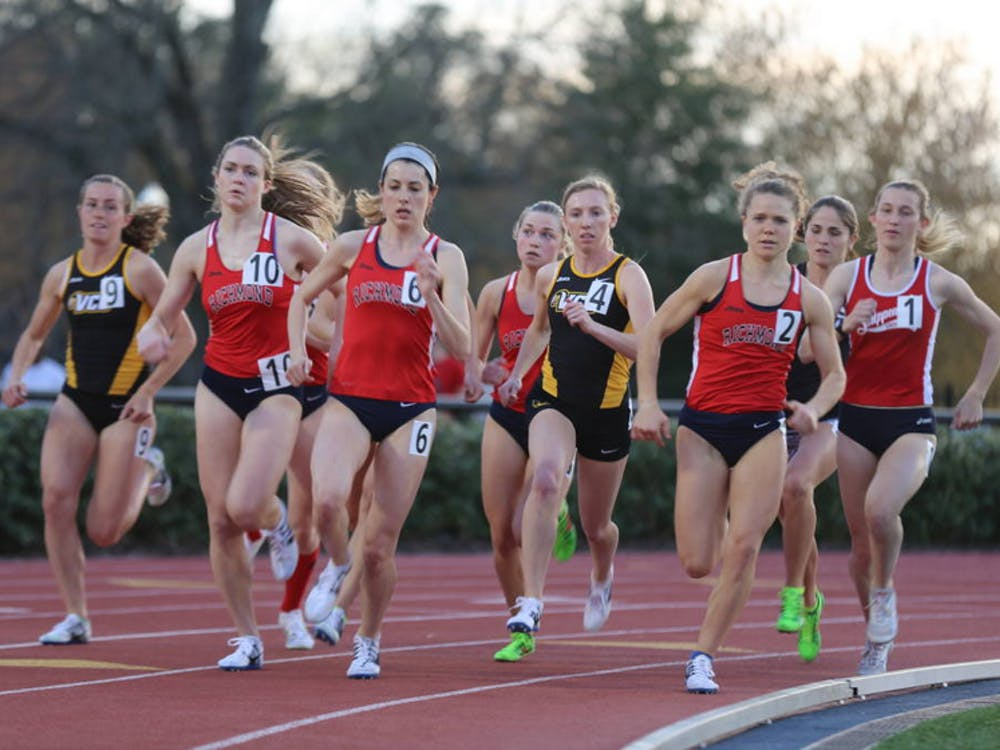 Richmond runners leading the event. Photo courtesy of Richmond Athletics.