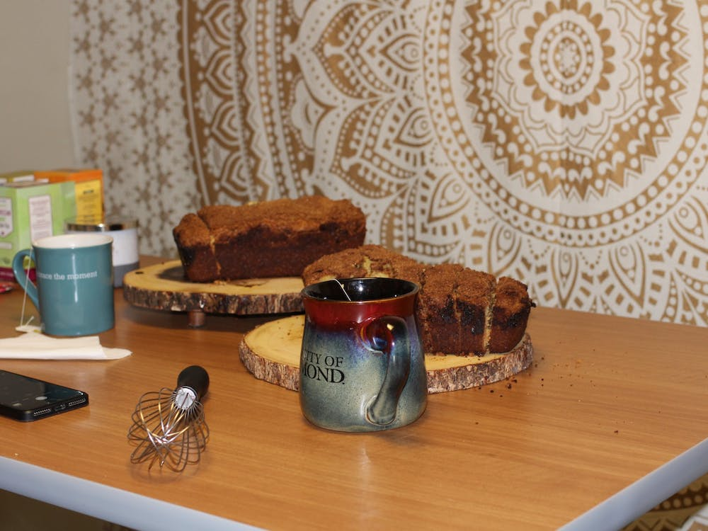 Freshly baked bread and mugs full of hot tea are on display at one of senior Callie Cinque's popular Tea & Bread nights.
