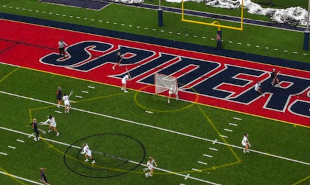 <p>UR Women's Lacrosse team lost 15-9 loss to UVA on Feb. 19. This was the Spiders' first loss of the early season.&nbsp;</p>