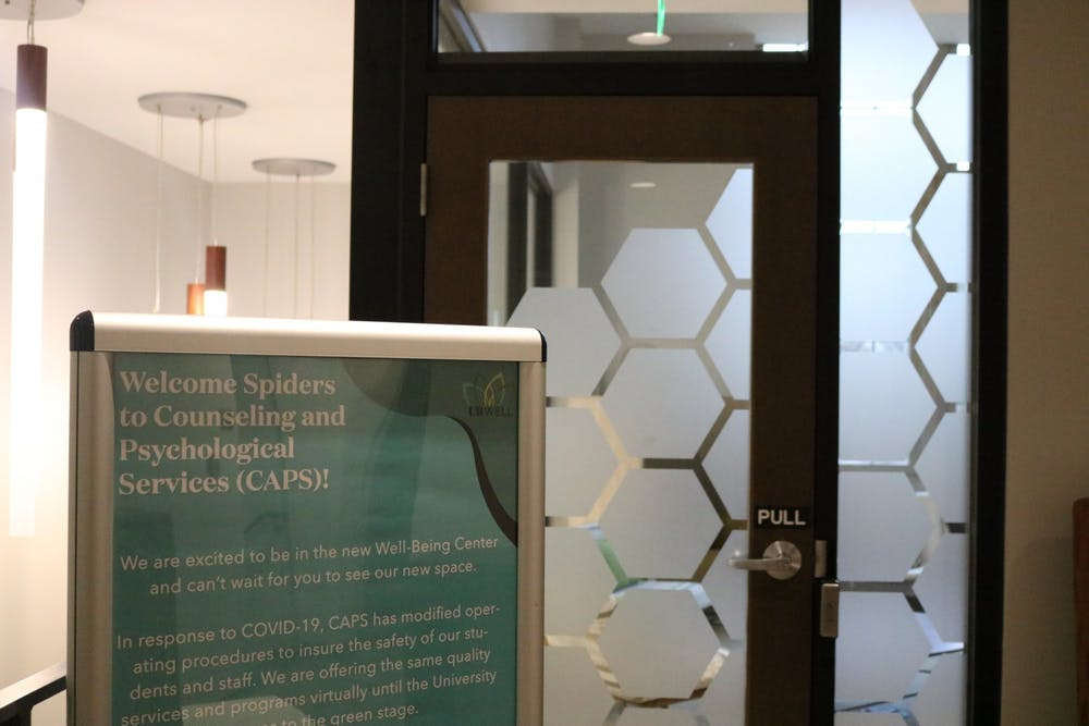 <p>The entrance to the new CAPS office in the Well Being Center.</p>
