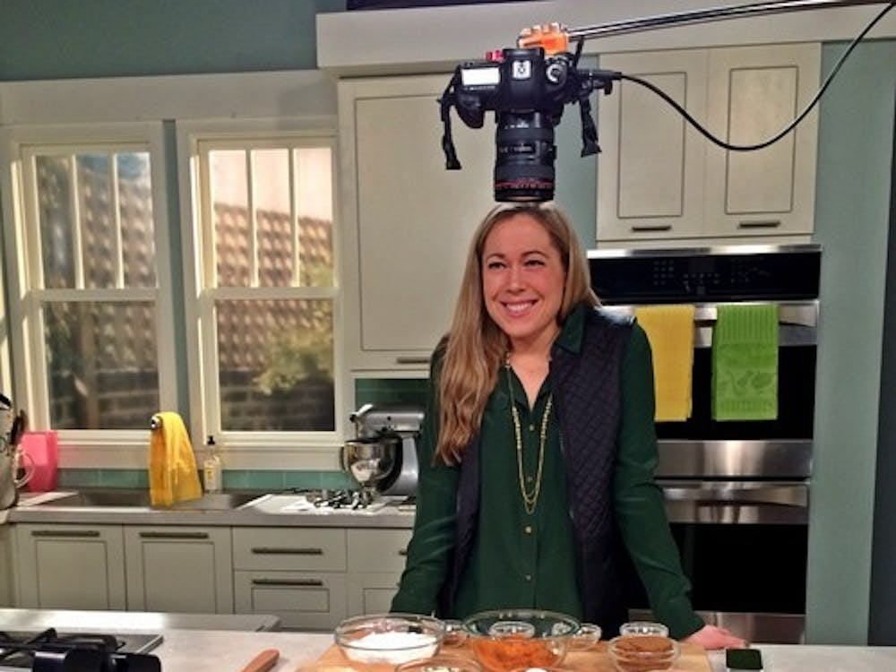 "Ashley Foxen filming her Food Network show ""Reality Cupcakes."" Photo courtesy of Ashley Foxen."