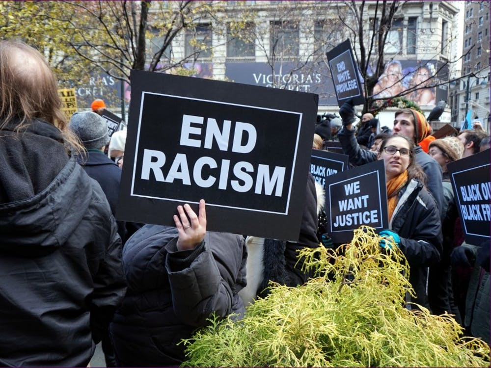 NYC action in solidarity with Ferguson. Mo, encouraging a boycott of Black Friday Consumerism in 2016.