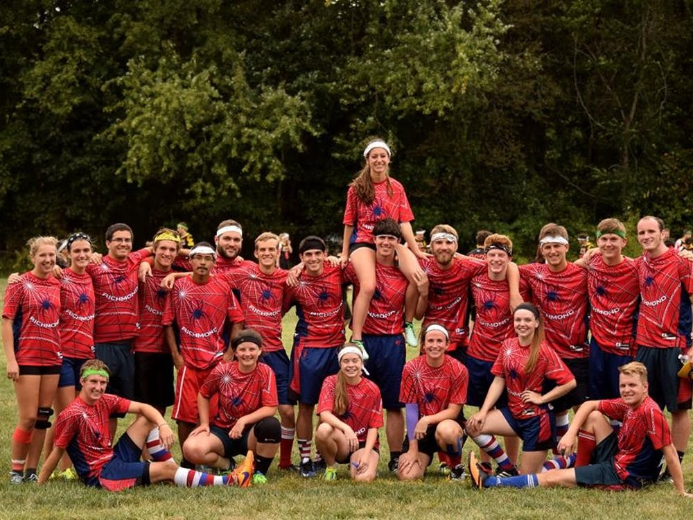 The University of Richmond's club quidditch team. Photo courtesy of Amy Murphy.