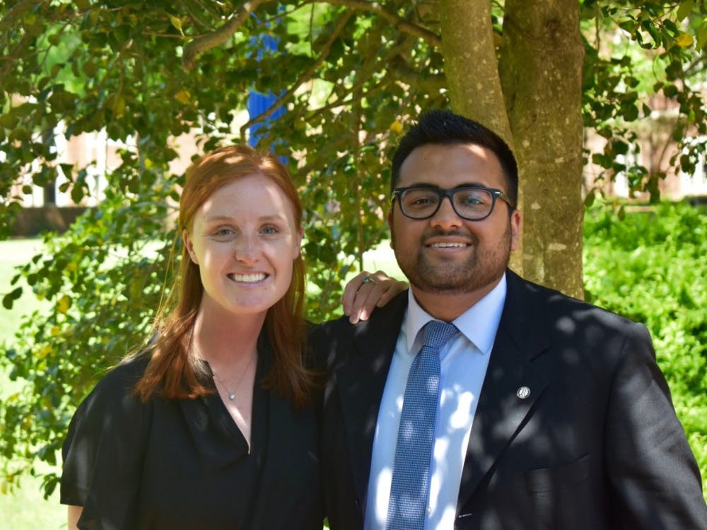 SOBAC co-chairs Page Soper and Muhammad Coovadia handled the student organization funding process this year.