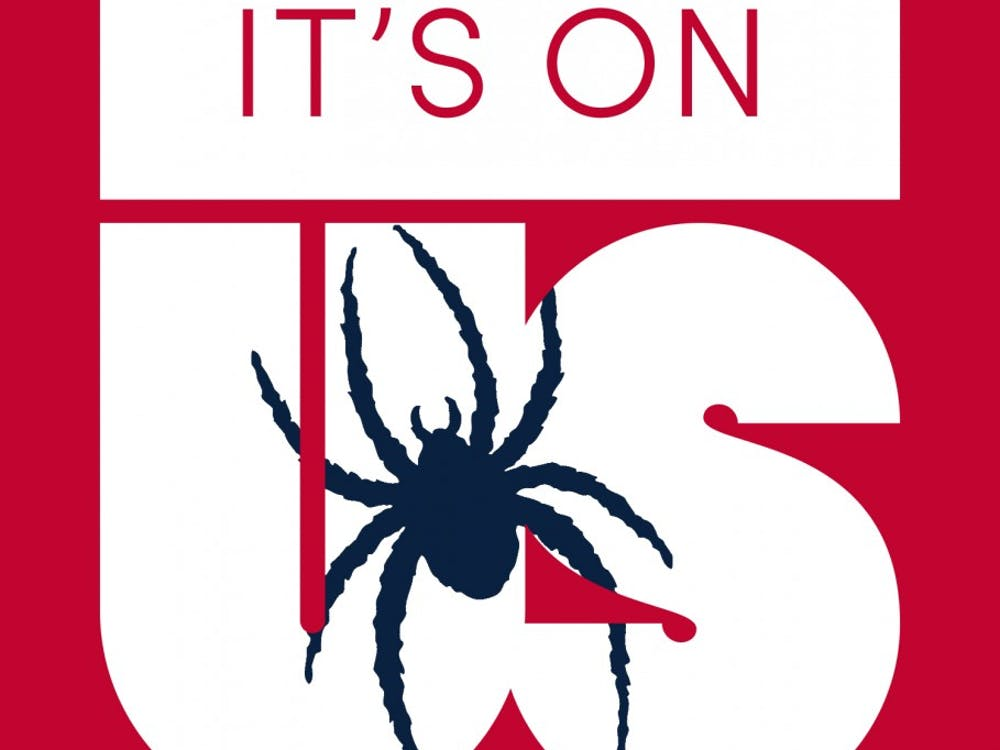 "The Richmond version of the ""It's On Us"" logo. Many other colleges, companies and organizations have also created their own version of the logo to show support of the campaign. 