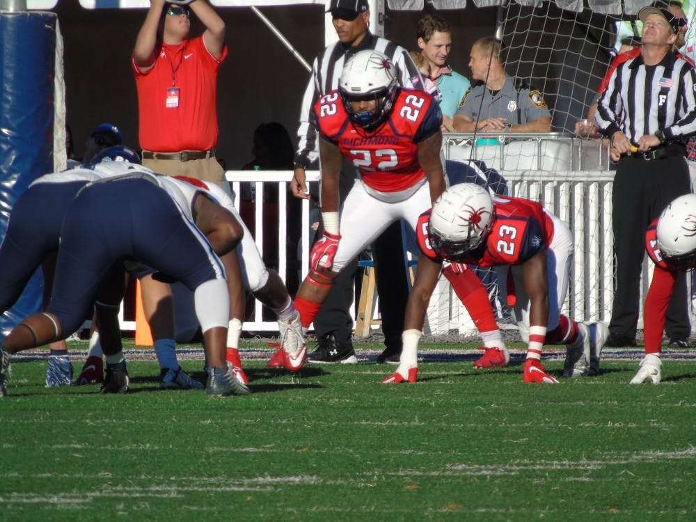 Redshirt senior and linebacker Dale Matthews Jr. during the homecoming game against Villanova on Saturday, Nov. 3.