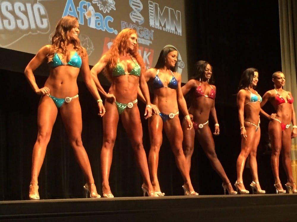 Kube competed in the novice bikini class.