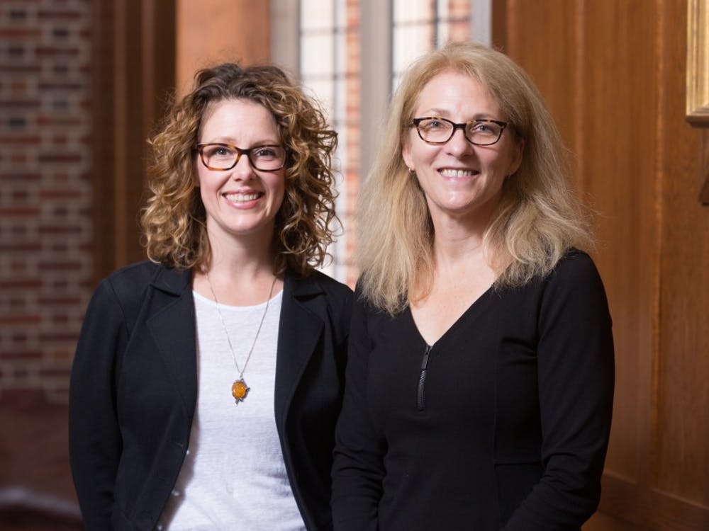 Heather Russell (left) and Della Dumbaugh received a grant from the National Science Foundation to support women STEM.