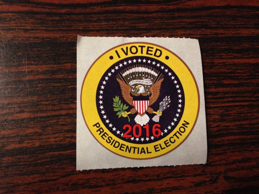"<p>""I voted"" stickers for the 2016 presidential election.</p>"