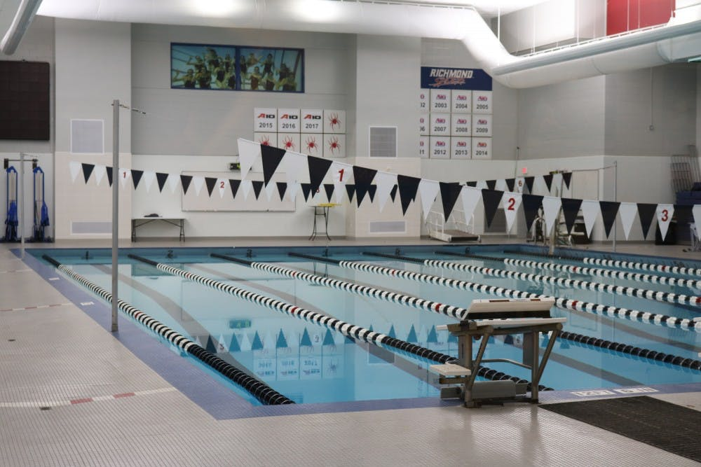 <p>The swimming and diving team holds their practices in the pool located in the Weinstein Center for Recreation and Wellness.&nbsp;</p>