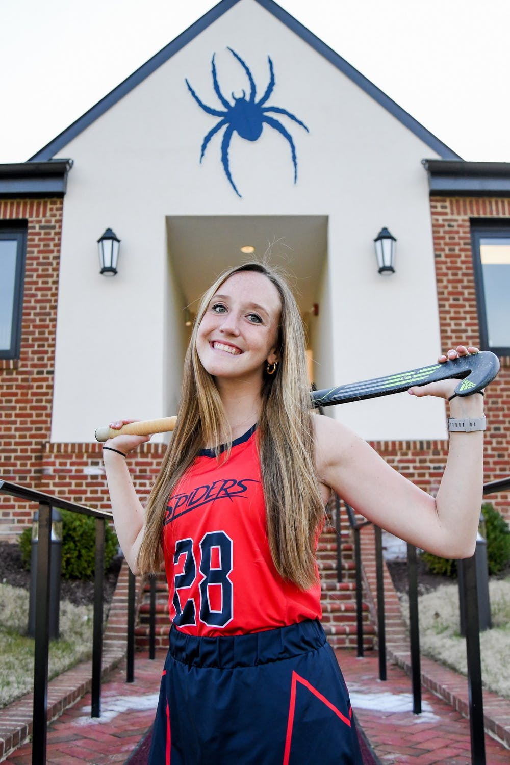 <p>Senior defender Kayla Somers poses for a picture in front of Crenshaw Fieldhouse. <em>Photo courtesy of Erika Latta</em></p>