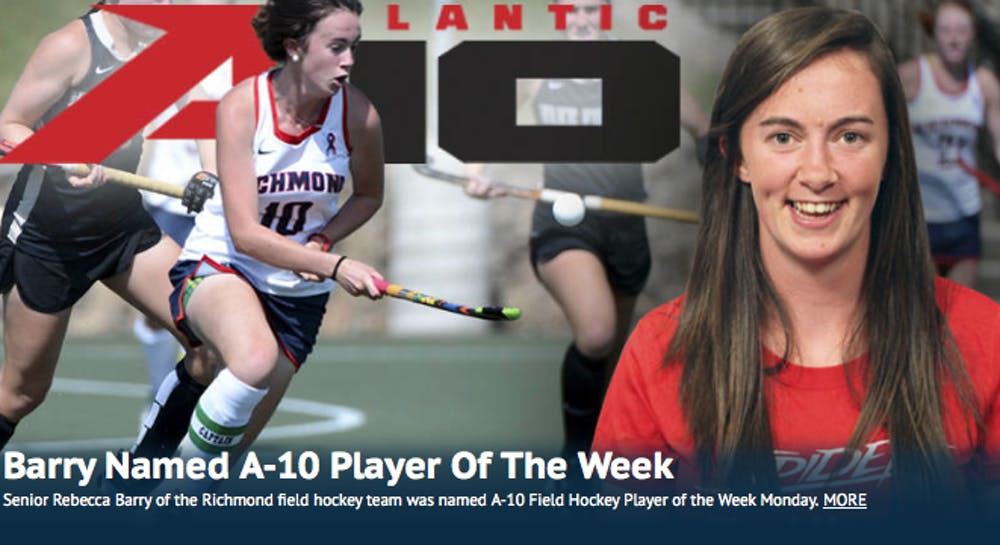<p>Senior Rebecca Barry was selected as the Atlantic 10 Field Hockey player of the week.</p>