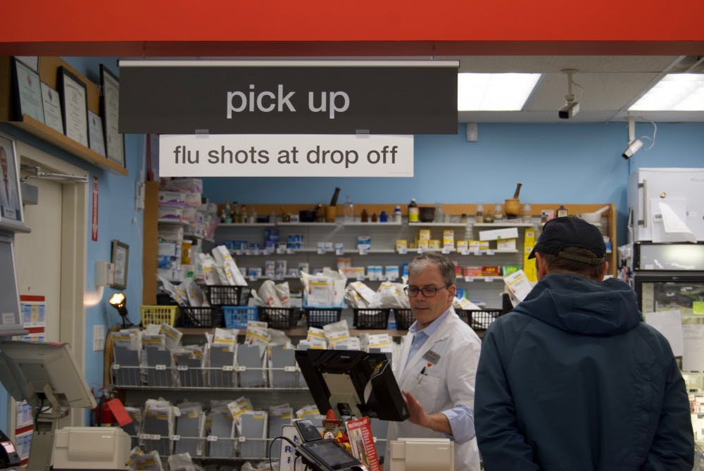 <p>CVS Pharmacy, including the one located at The Village shopping center on Three Chopt Road, is providing free flu shots this year.&nbsp;</p>