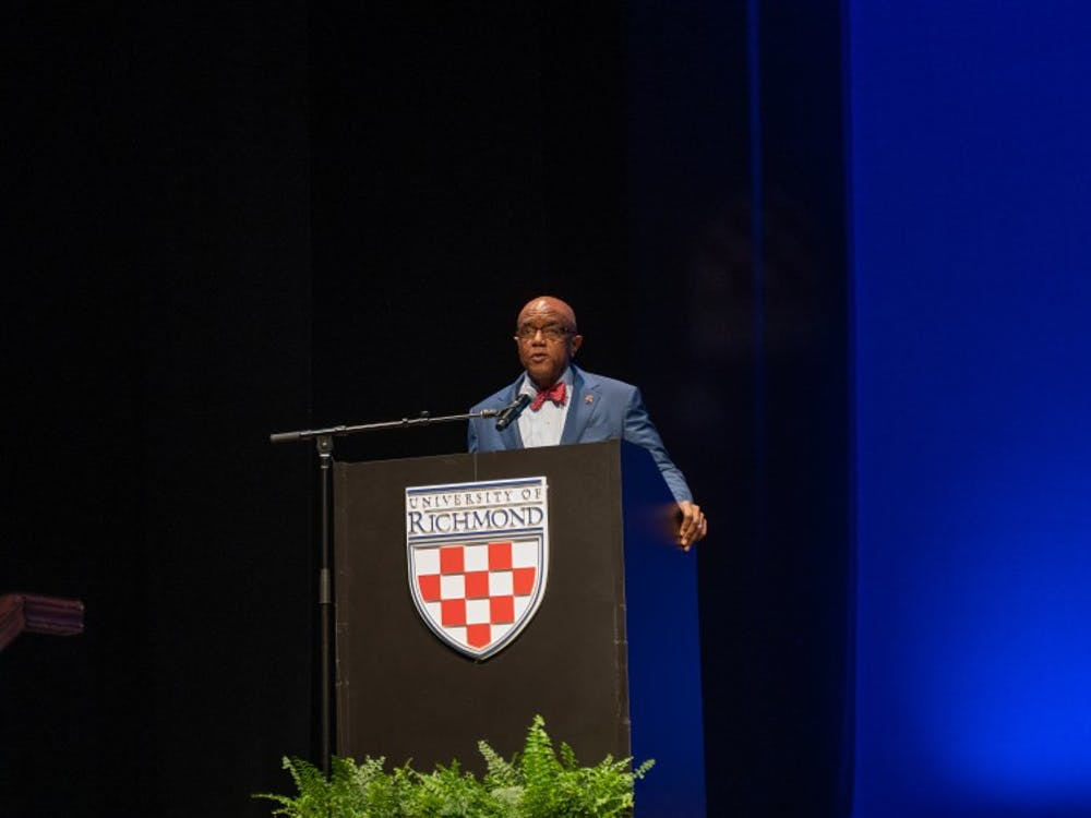 President Crutcher speaks at his State of the University address.