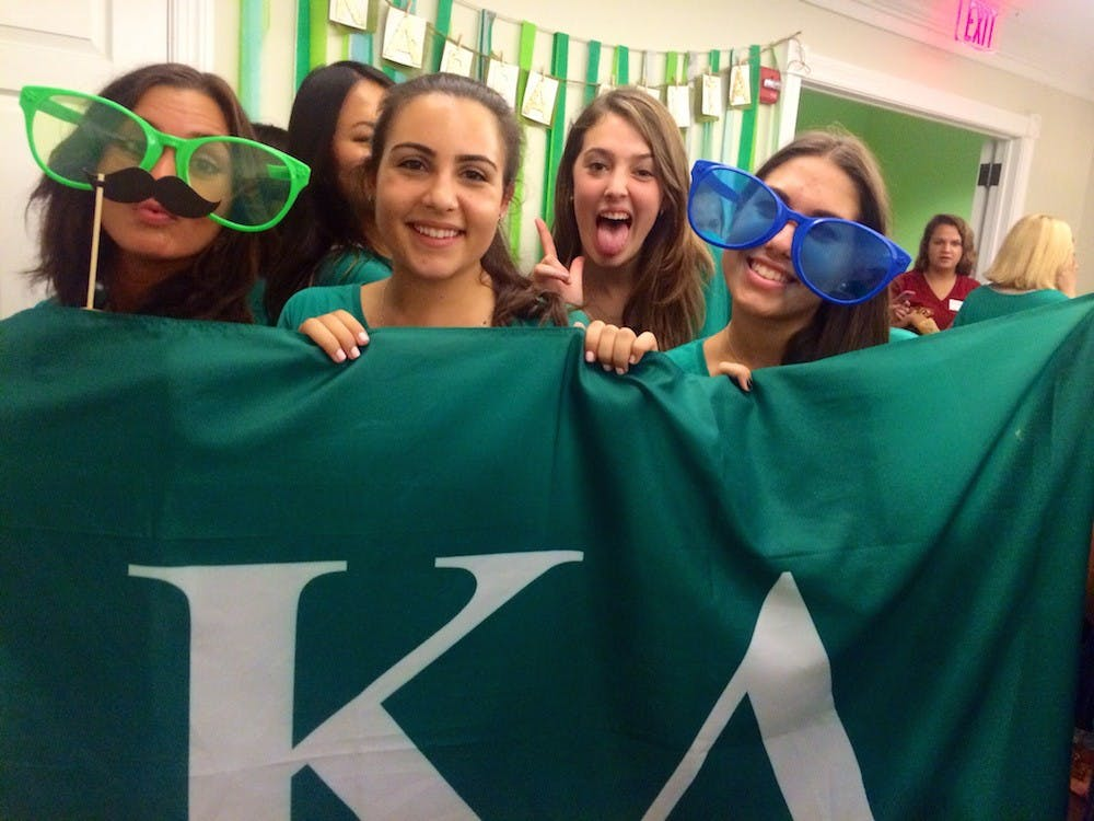 Kappa Delta, University of Richmond's newest sorority, welcomed its Alpha class Sunday. Photos of bid night courtesy of Mariah Genis, Jennie Trejo, Michelle Gobar, Jessica Atkins and Mariana Weber