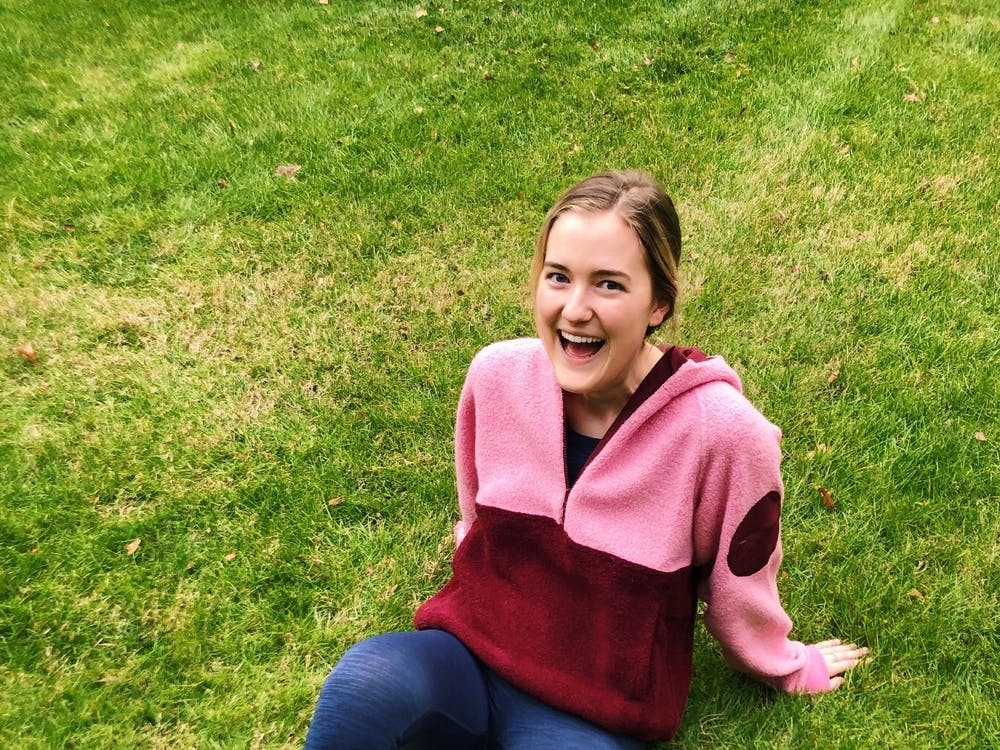 Ava Cummings poses in Outdoor Voices apparel for a social media post as part of her job of being an OVU Crew representative for the brand.
