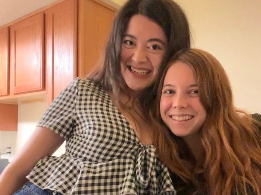 Rachel Perry, left, and Kendra O'Connor, right, have been roommates since their first year at UR in Lora Robins Court. Courtesy of O'Connor