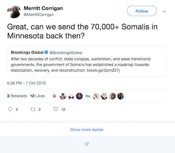 Anti refugee screenshot