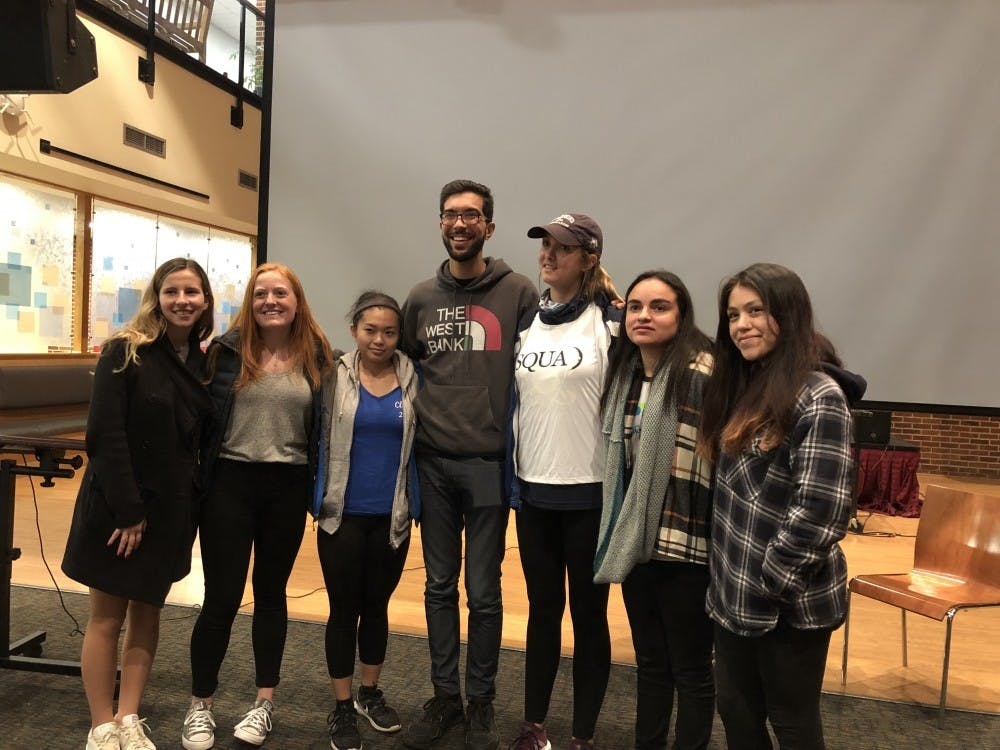 Benjamin Ladraa (center) with the members of UR's No Lost Generation executive board.