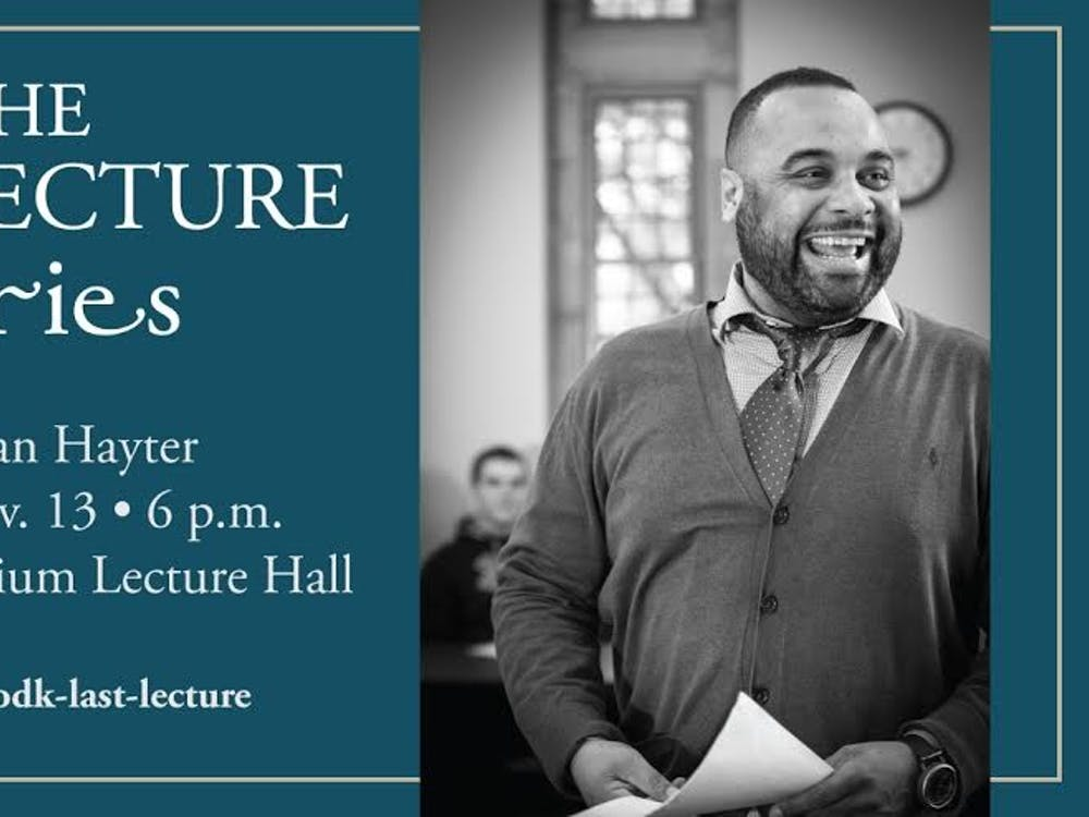 Leadership professor, Dr. Julian Hayter, will be the speaker for the Last Lecture.