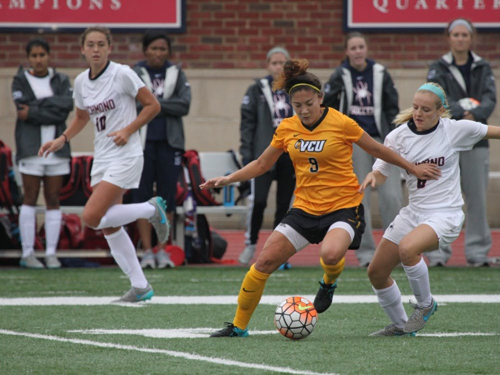 Richmond Women's soccer beat the VCU Rams 3-2, bringing the Spiders' record to 5-12-1 overall. Goals by Olivia Aha, Ashley Riefner and Lindsay Egbers. Photos by Evan McKay