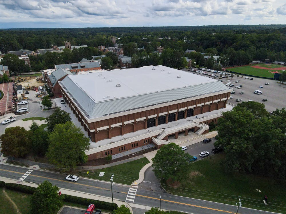<p>Robin's Arena, home to the Richmond Spiders' basketball teams</p>