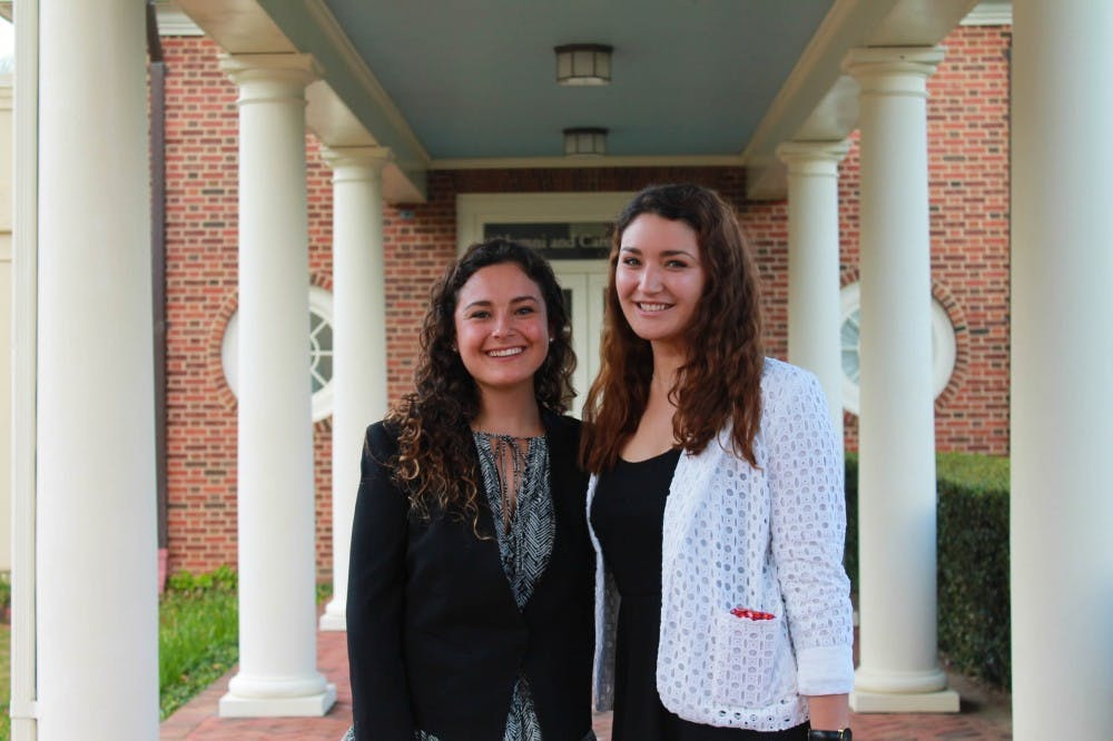 <p>Ayala and Karam, pictured above, were awarded $10,000 after winning a Projects for Peace grant.&nbsp;Photo courtesy of University of Richmond's Newsroom page.&nbsp;</p>
