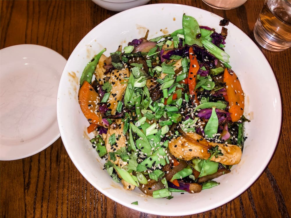 The teriyaki bowl at The Daily Kitchen & Bar.