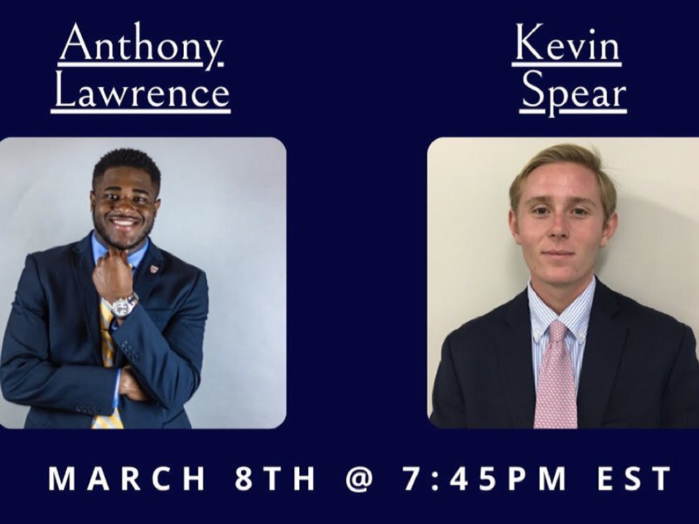 Anthony Lawrence and Kevin Spear are the two RCSGA 2021 presidential candidates. Courtesy of the RCSGA Instagram