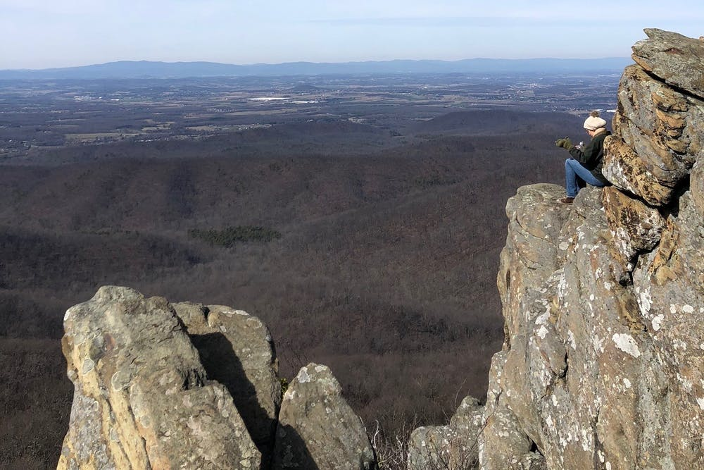 <p>View from the top of the Humpback Rocks.</p>